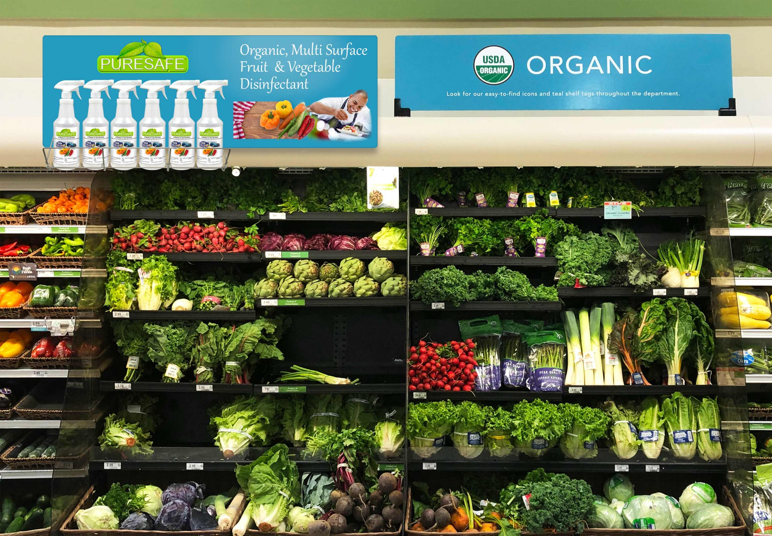 What organic healthy food store near me Sarasota has Puresafe COVID Disinfectant